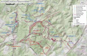 Surviving earthworks on Spotsylvania Battlefield. 2004