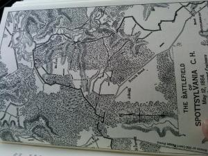 "Map from the book ""Colonel at Gettysburg and Spotsylvania"""