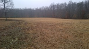 the field in front of the Howitzers