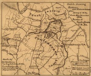 Hotchkiss Map of 2nd Corps (Confederate) works at Spotsylvania
